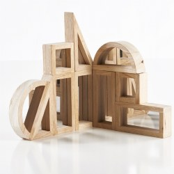 Hardwood Mirror Block Set in Different Shapes