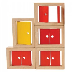 Wooden Doors and Windows - 5 Piece Set