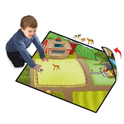 Zipbin Happy Farm & Dino Land Large Playmat - 2-Sided