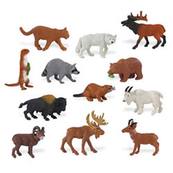 North American Wildlife Minis - Set of 12