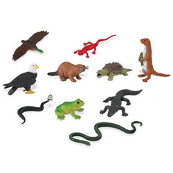 River Animal Minis - Set of 10