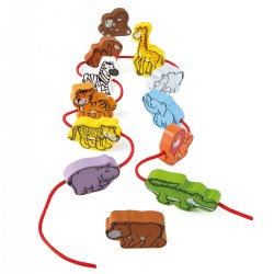 Wild Animal Lacing Set (Set of 12)