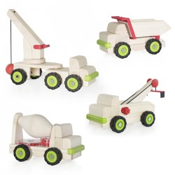 Block Science Wooden Trucks