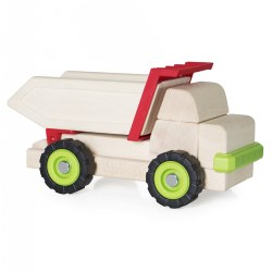 "3 years & up. Building upon the multi-faceted early childhood development benefits of unit block play, this sturdy wooden truck is designed to overlay a lesson on how a simple machine works. This large wooden dump truck uses levers to move the flatbed for loading and unloading. Use Unit Blocks (sold separately) along with this Block Science Big Truck to teach simple machine and STEM concepts while encouraging construction, deconstruction, teamwork, social interaction and self-expression. Measures 14.75""H x 5.5""D x 8.75""L."