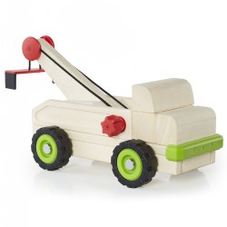 "3 years & up. Building upon the multi-faceted early childhood development benefits of unit block play, this sturdy wooden truck is designed to overlay a new lesson on how a simple machine works. This large wooden tow truck teaches children how to use wheel and axle technology by cranking the handle in the front of the truck bed to watch how the pulley works by raising and lowering cargo. Use Unit Blocks (sold separately) with this Block Science Big Truck to teach simple machine and STEM concepts while encouraging construction, deconstruction, teamwork, social interaction and self-expression. Measures 15.25""H x 5.5""D x 11.25""L."