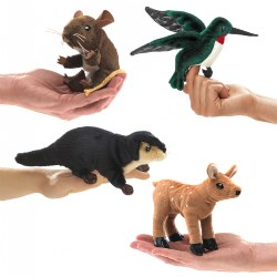 Mini Puppets Forest Animals - Set of 4
