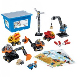 3 - 6 years. Transform your children into expert builders! With the Tech Machines set in your classroom, you'll help children develop their fine motor and problem-solving skills while simultaneously unleashing their creativity as they construct classic machines. Storage box included. 95 pieces.