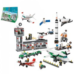 4 years & up. Take off to an exciting world of play! Children work together to build and create stories about transportation and space travel as they further develop their speaking, listening, and fine motor skills. The bricks and special elements make it easy to construct fun, unique buildings and vehicles. Storage box included. 1,176 pieces.