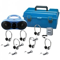 6-Station Val-U-Pack Bluetooth®/CD/FM Listening Center