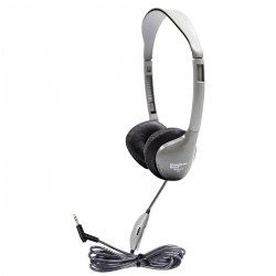 SchoolMate™ On-Ear Stereo Headphone with Leatherette Cushions and in-line Volume