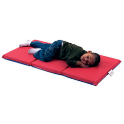 "3 Fold 1"" Germ Guard™ Folding Mat - Red/Blue (Set of 10)"