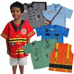 Community Dress-Ups Preschool Set (Set of 6 Polyester Dramatic Play Costumes)