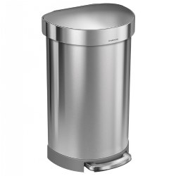 Semi-Round Trash Step Can