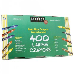 Sargent Art Best Buy Large Crayons (400 Per Box)