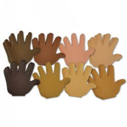 Skin Tone Paper Hands - 35 Sheets