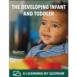 As infants and toddlers grow and develop they are establishing a foundation for learning that prepares them for success as they enter school and later in life. Beyond establishing responsive care and a nurturing environment, educators also have the responsibility to provide experiences that stimulate the developing brain and create pathways for learning. In order to effectively support Infants and toddlers as they learn, teachers must increase their knowledge about theories of learning and brain development. In this course participants explore the basis for how infants and toddlers learn, developmental goals and observable teacher behaviors that support school readiness. This is a 3-hour course worth 0.3 CEUs.  This course can be utilized to meet the training requirements to earn or renew your Child Development Associate® (CDA) credential. Course content is aligned with the CDA® Subject Area 8: Understanding principles of child development and learning.