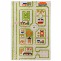 IVI Traffic 3D Green Rug - 3.25' x 5'