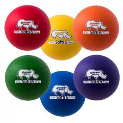 "RHINO Skin® Coated 6"" Softi Balls - Set of 6"