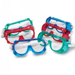 Children's Colorful Safety Goggles - Set of 6