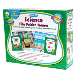 Grades K - 1. With preprinted game boards, you'll only need to cut and laminate the game pieces! Includes 16 games that cover earth, space, physical, and life sciences--topics that support NSE standards.