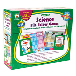 Grades 2 - 3. With preprinted game boards, you'll only need to cut and laminate the game pieces! Includes 16 games that cover earth, space, physical, and life sciences--topics that support NSE standards.