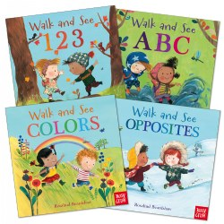 Walk and See Board Book Set - Set of 4
