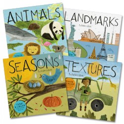 Explore and Learn Board Books - Set of 4