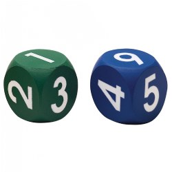 "PreK & up. These large 1 3/4"" soft foam will fit perfectly into any game or math activity."