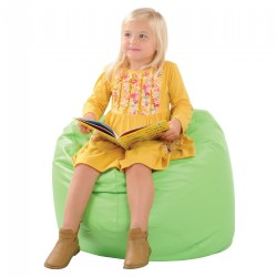 Vinyl Bean Bag Chairs - Lime Green - Factory Second