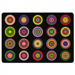 "Color Rings Carpet - 5'10"" x 8'4"""