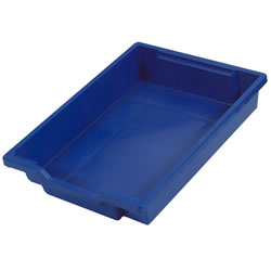 "Storage Tray 3"" Deep- Blue"