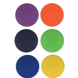 "9"" Poly Spots Set - Set of 6"