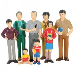 Block Play Family Play Set - Asian