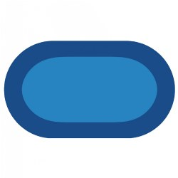 "Kaplan Two-Tone Blue Oval Carpet - 6'8"" x 12'"
