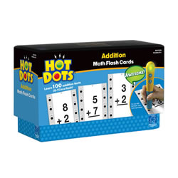 Addition Hot Dots® Flash Cards