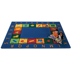 "Bilingual Circletime Rug - 8'4"" x 11'8"" Rectangle"