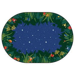 Peaceful Tropical Night Rug - 8' x 12' Oval