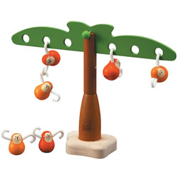 3 years & up. Helps develop mathematical skills through discovery play as children move the monkeys around to keep the tree balanced. Includes one tree and 6 monkeys.
