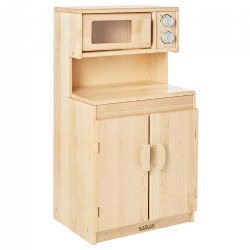 Premium Solid Maple Microwave and Cupboard - Factory Second