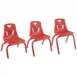 Stackable Chairs - Red - Factory Second