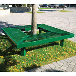Square Mall Bench