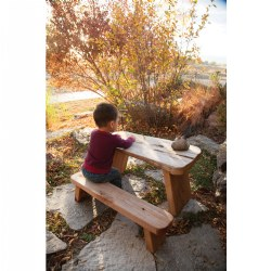 Wood Slab Leg Tables and Benches