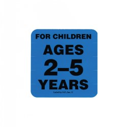 Ages 2 - 5 Years Label