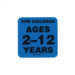 Ages 2 - 12 Years Label
