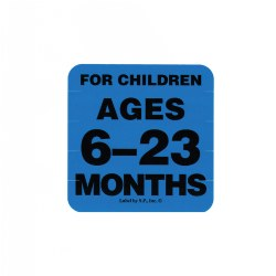 Ages 6 - 23 Months Label