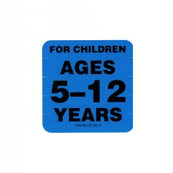 Ages 5 - 12 Years Label