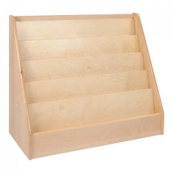 "Premium Solid Maple Large 36"" Wide 5-Shelf Book Display"