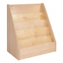 "Premium Solid Maple Small 24"" Wide 5-Shelf Book Display"