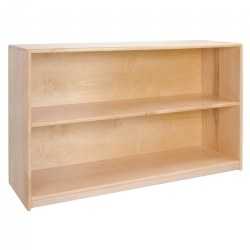 Premium Solid Maple 2-Shelf Storage - Solid Back