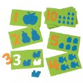 "PreK - Grade 1. Ten puzzles with familiar objects will reinforce counting, matching, sensory and perceptual motor concepts.. Washable, crepe rubber.  5 3/4""W x 3 3/8""D."